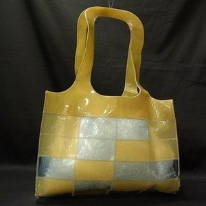 Chanel Naked Patchwork Tote Clear Blue Yellow